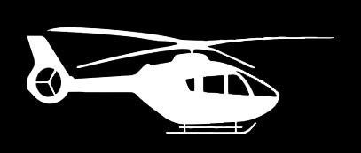 LLI Helicopter | Decal Vinyl Sticker | Cars Trucks Vans Walls Laptop | White | 5.5 x 2 in | LLI1369