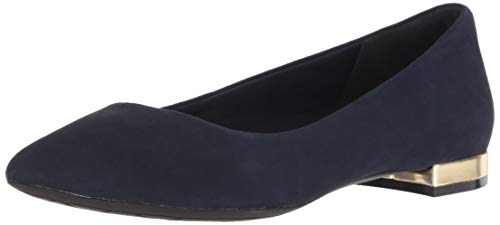 Adelyn Flat Total Sapphire Rockport Women's Dark Suede Ballet Motion Loafer qaYvtO4w