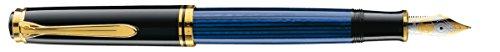 Resin Fountain Pen Gold Trim - Pelikan M800 Fountain Pen, Blue Resin, Gold trim, 986737 - B