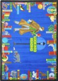 Joy Carpets Kid Essentials Language & Literacy Look Into Reading Rug, Multicolored, 5'4'' x 7'8''