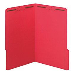 Office Depot Color Fastener File Folders, Legal Size, Red, Pack of 50, OD27740 by Office Depot (Image #1)