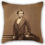 Artistdecor Throw Pillow Case Of Oil Painting John Jabez Edwin Mayall (British - (The Prince Of Wales (Edward VII)),for Bf,relatives,bedding,kids Boys,lounge,bedding 16 X 16 Inches / 40 By 40 Cm(ea
