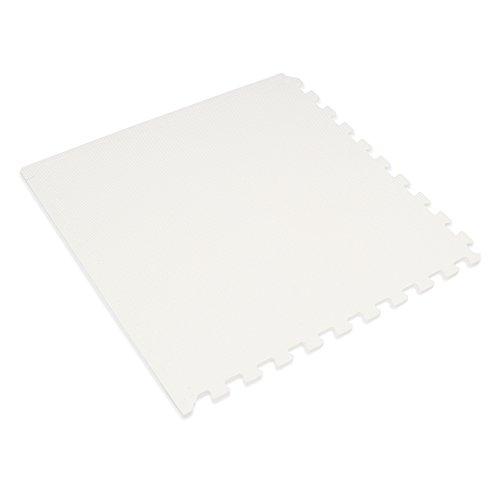 We Sell Mats 3/8 Thick Interlocking Foam Mats, White, 24 SQFT (6 - Four White Tiles