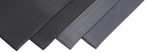 2' x 3' 3/8'' Thick Gray Soft Foot™ Standard Anti-Fatigue Mat