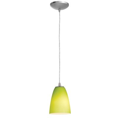 Access Lighting 28222-BS/LGR Sydney Inari Silk Cone Mini Pendant