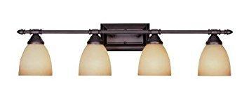 Designers Fountain 94004-ORB Apollo 4 Light Bath Bar, Oil Rubbed Bronze