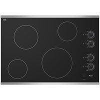"Whirlpool W5CE3024XS 30"" Stainless Steel Electric Smoothtop Cooktop"