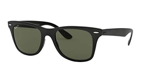 7b64c7edab4 New Ray Ban Liteforce Wayfarer Tech RB4195 601S9A Black Polar Green 52mm  Sunglasses