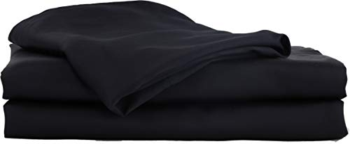 Hotel Sheets Direct Bamboo Bed Sheet Set 100% Viscose from Bamboo Sheet Set (Queen, Black)