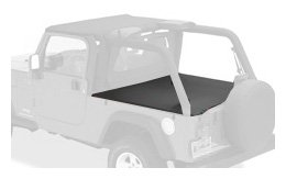 Bestop 90024-35 Black Diamond Duster Deck Cover for 2004-2006 Wrangler Unlimited with Factory Hardtop (Diamond Duster)