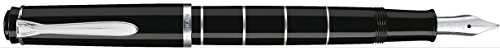 Pelikan 948463 Classic M215 Ring Piston Fill Fountain Pen Stainless Steel Nib Broad B Black / Silver by Pelikan