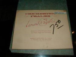 Bernstein Chichester Psalms Organ,Harp & Percussion (Chichester Psalms Bernstein Music Book)