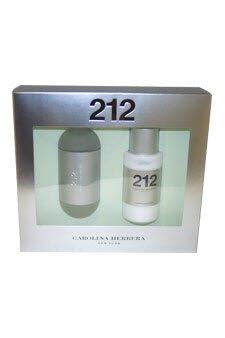 212 2pc Set by Carolina Herrera edt spray 3.4 oz & body lotion 3.4 oz