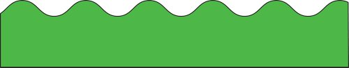 Cd 1212   Border Green Scalloped
