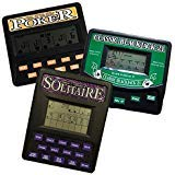 (3 in 1 Gambling Handheld Video Game Pack - Solitaire Handheld Game - Blackjack Handheld Game - Poker Handheld Game)