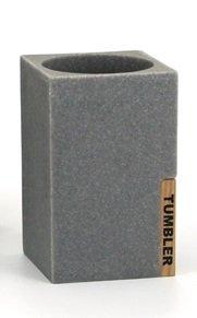 Bicchiere Bagno Stone–Grigio Effetto Pietra ritagliata Meubletmoi