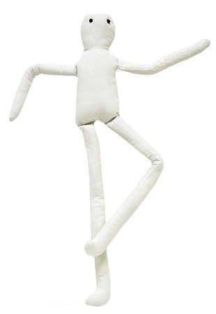 Tea Dyed Muslin (Long Leg Muslin Doll W/Wire 14