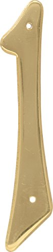 Hillman 847043 4-Inch Nail-On Traditional Solid Brass House Number 1