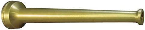 Industrial Fire Hose Nozzle, 1 in, Brass