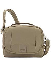 Khaki Earth - PacSafe Metrosafe Ls140 Anti-theft Compact Shoulder Bag - Earth Khaki Travel Cross-Body Bag