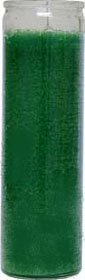 1 X 7 Day Candle in Green Wax - Seven Candles