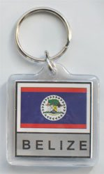 Belize - Country Lucite Key Ri