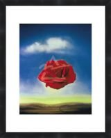 (The Rose by Salvador Dali Framed Poster Print 11X14)