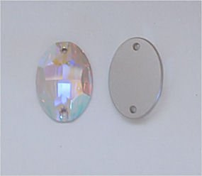 SWAROVSKI 3210 Sew On FlatBack OVAL Crystal AB 16x11mm by Tamis Place