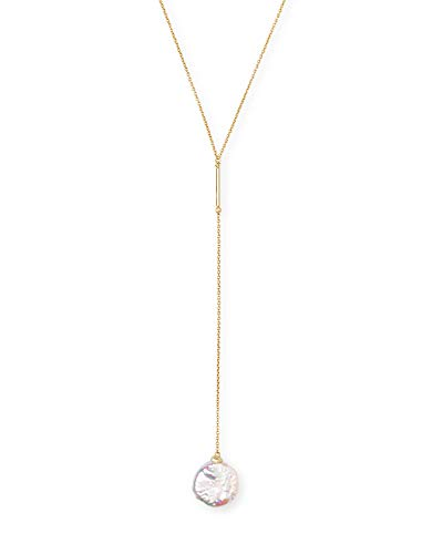 Kendra Scott Andi Gold Y Necklace In Pearl