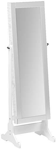 Iconic Home Glam Contemporary Pristine White Mirror-Border C