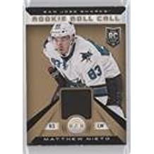 Matthew Nieto #5/25 (Hockey Card) 2013-14 Totally Certified - Rookie Roll Call - Gold Patch #RR-MNI