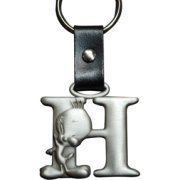 Tweety Bird Pewter Keychain Letter H (Tweety Bird Key Ring)
