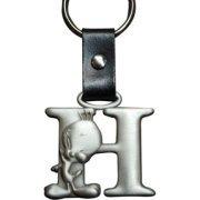 (Tweety Bird Pewter Keychain Letter H)