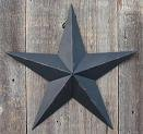 Primitive Star Decor - 40 Inch Rustic Black Barn Star Made with Galvanized Metal to Prevent Rusting. Amish Hand Made Your Source for Heavy Duty Metal Tin Barn Stars and Primitive Style Stars for Your Country Crafts and Home and Garden Decor. American Handcrafted - Made in the Usa!