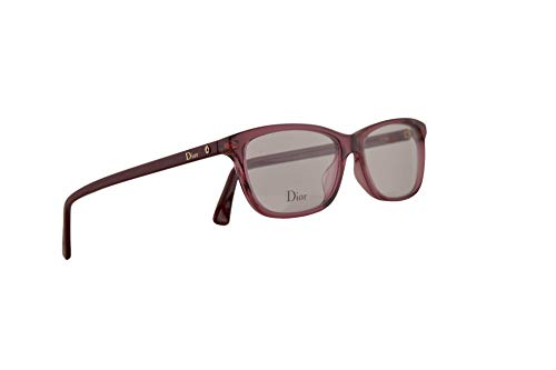 Christian Dior Montaigne n°56 Eyeglasses 53-14-145 Opal Burgundy w/Demo Clear Lens LHF 56 Montaigne56