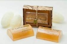 (Saibua Luffa Soap Scrub Thai Herbal Lemongrass & Honey Bar 100 gx2.)