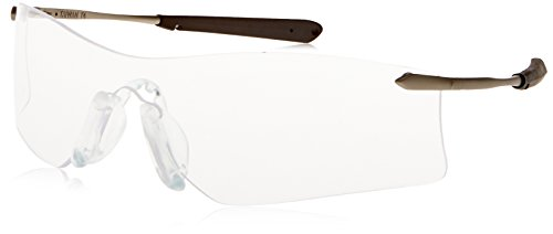Crews T4110AF Rubicon Safety Glasses Clear, Lens Anti-fog Lens, 1 Pair (Silver Medallion Hinges)