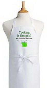 Golfing Costumes (Blazers Proforms Costumes - Golfing Apron Cooking Is Like Golf Novelty Kitchen Cooking Aprons by Coolaprons)