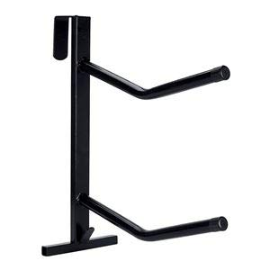 PVC Coated Double Saddle Rack - Black by Dover Saddlery