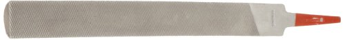 Half Cut Round File - Simonds Hand File, American Pattern, Double Cut, Half-Round, Medium, 6