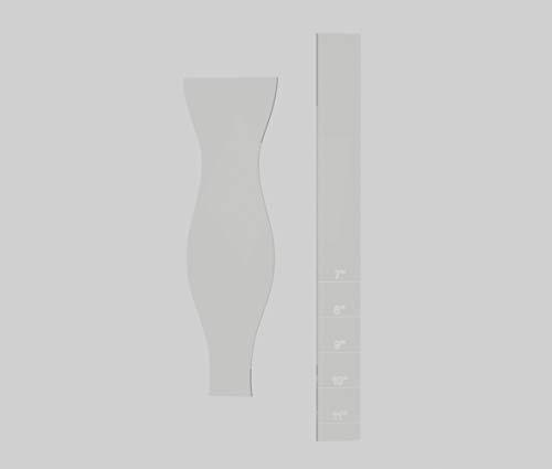 Bow Tie Template - Acrylic Template - 1/8 Clear Acrylic - Slim Line Bowtie - 2 Piece Template Set
