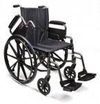 Traveler L4 Wheelchair Flip Back Full Arm less Armrest (pair) by Graham Field