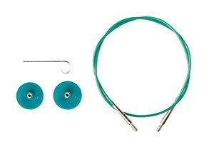 "Options Interchangeable Circular Knitting Needle Cables - Green Cables (60"", Green)"