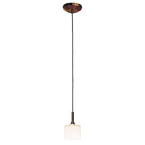 Access Lighting 96918-BRZ/OPL Omega - One Light Low Voltage Pendant, Bronze Finish with Opal Glass