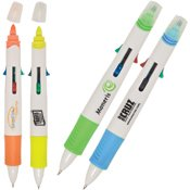 (Multi-Tasker Pen/Highlighter - 250 QUANTITY- $1.87 EACH - PROMOTIONAL PRODUCT / BULK / BRANDED with YOUR LOGO / CUSTOMIZED)