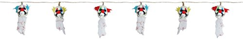 String of Clown Skulls Skeleton Scary Halloween Hanging Decorations ()