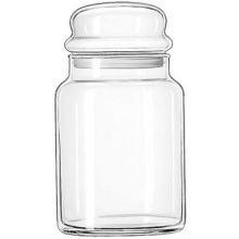 libbey glass spice jars - 6