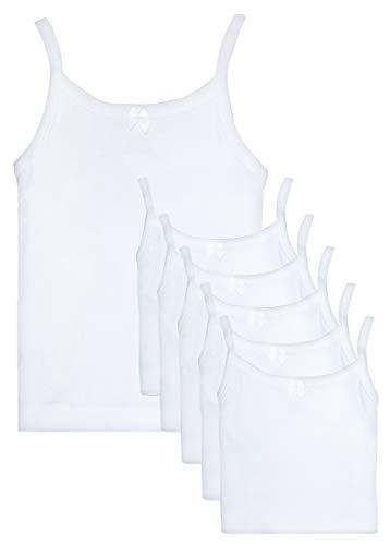 'Rene Rofe Girls Undershirt Camisole Tank Tops, White, X-Large / 14-16 (Pack of 6)' (Girls Undershirt)