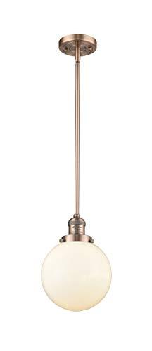 Innovations 201S-BK-G201-8-LED 1 Light Vintage Dimmable LED Mini Pendant Matte Black