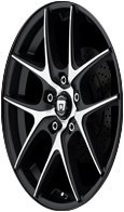 Motegi Racing MR128 Satin Black Wheel With Machined Flanged (17x7.5''/5x120mm, +45mm offset) by Motegi Racing (Image #5)